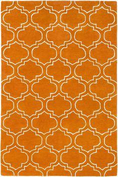Signature AWSG-2143 Orange/Ivory Modern Premium Wool Rug
