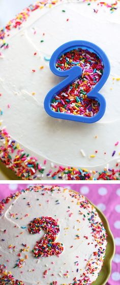 Use cookie cutters as templates for decorating special cakes! Love it! http://littlelifeofmine.com/2011/04/birthday-cake.html