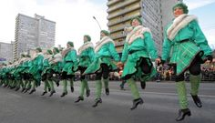 St. Patrick's Day parade in central Moscow