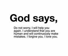 Daily Gospel Reading, Im Grateful, Gods Grace, Forgiving Yourself, Making Mistakes, Forgiveness, No Worries, Mindset, I Love You