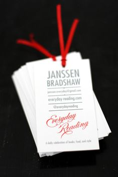 A Tiny Bookmark Business Card