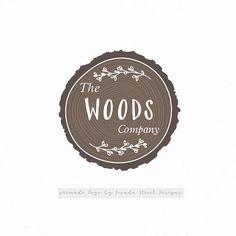 Round Logo-Wood Logo-Rustic Logo-Tree Logo-Premade Logo-Laurel