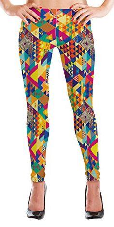 MyLeggings Buttersoft High Waistband Leggings Colorful Aztec