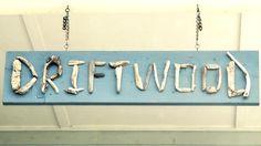 driftwood letter sign