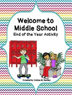Each year, I have my middle school students make a Welcome to Middle School book for the upcoming middle school students. This writing activity is . Middle School Books, Middle School Activities, Middle School Counseling, Middle School Classroom, School Counselor, School Resources, Writing Activities, New Students, School Lessons