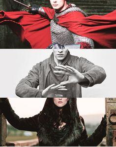 Arthur, Merlin, and Morgana