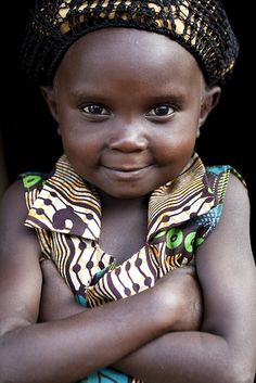 Lendu girl from Gety, a remote village located in Ituri region of the northeastern DR Congo