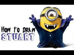How to Draw Stuart as a Vampire from Minions Movie 2015 Drawing Tutorial - How to Draw Step by Step Drawing Tutorials Minions Movie 2015, Minion Movie, How To Draw Steps, Learn To Draw, Minion Halloween, Blender Tutorial, Drawing Letters, Very Scary, Silhouettes