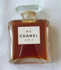 Vintage 1930's Chanel No. 5 Miniature Extrait TPM 1/2 Oz Perfume - 98% Full