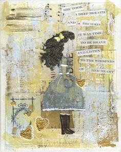 "Jeanne Oliver Designs ""She Took A Deep Breath"" Print"