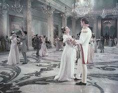 Audrey Hepburn and Mel Ferrer in War and Peace directed by King Vidor , 1956