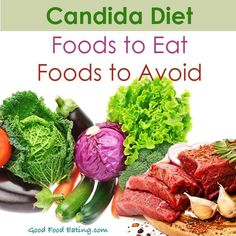 A list of foods to eat and foods to avoid on the candida diet. Though it is a restrictive diet, there are still plenty of delicious foods to choose from. Anti Candida Diet, Candida Diet Recipes, Candida Cleanse, Candida Diet Food List, Vegan Recipes, Foods To Avoid, Foods To Eat, Diet Foods, Fibromyalgia