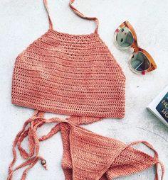 Swimwear & Beachwear for Women : crochet halter bikinis Bikini Babes, Bikini Tops, Halter Bikini, Bikini Beach, Lingerie, Summer Wear, Summer Outfits, Bikinis Crochet, Underwear