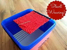 Green Issues by Agy: DIY Weaving Loom...How to make your own weaving loom from a plastic box!