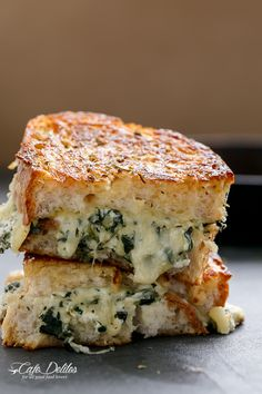 Cafe Delites | Spinach and Ricotta Grilled Cheese | http://cafedelites.com