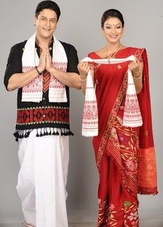 dhoti gamosa a traditional dresses of indian state aasam