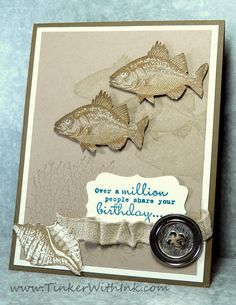 Tinker With Ink & Paper: Not Just Another Fish In The Sea.  (Pin#1: Sea Life/... Pin+: Masculine: Fishing).