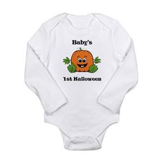 Baby's 1st Halloween Pumpkin Baby Outfits at Cafe Press