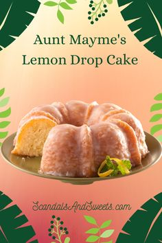 Cake Mix Desserts, Cake Mix Recipes, Lemon Desserts, Lemon Recipes, Just Desserts, Sweet Recipes, Baking Recipes, Delicious Desserts, Bunt Cakes