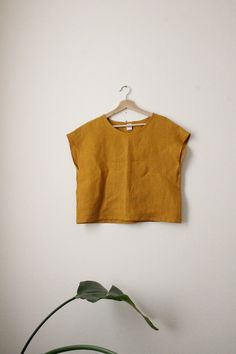 Your place to buy and sell all things handmade Looks Style, My Style, Diy Kleidung, Boxy Top, Look Fashion, Fashion Design, Linen Dresses, Diy Clothes, Fashion Clothes