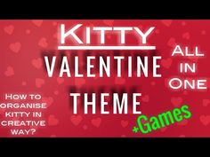 Valentine theme/valentine day/how to organise kitty parties/one minute game for kitty/top 5 kitty th Valentines Games, Valentine Theme, Valentines Day Party, Kitty Party Themes, Cat Party, Tameka Tiny, Valentine's Day Party Games, One Minute Games, Barbie Theme