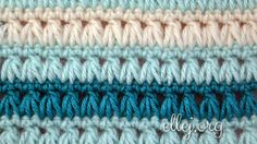 Triads Crochet Stitch - love this!  Free pattern
