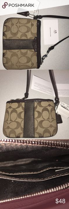 BRAND NEW with Tag authentic Coach wristlet Never been used Authentic Coach wristlet Coach Bags Clutches & Wristlets