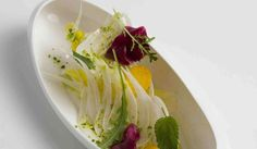 Diners are swooning over the delicate, locavore cooking at this Fitzrovia newcomer, making it one of the toughest reservations to score in London. Vegetarian Starters, Gourmet Salad, Michelin Star Food, London Food, Birthday Dinners, Fabulous Foods, Everyday Food, Perfect Food, Food Presentation