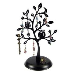MyGift Jewelry Tree Earring Necklace Hanger Holder with https