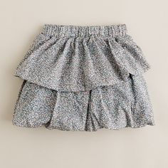 J. Crew girls' letour floral skirt. Cotton microtwill with elastic waistband. Original price $59.50. Sale price $39.99.