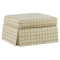 You should see this Julie Ottoman in White Grid on Daily Sales!