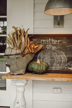 Farmhouse Fall Porch A perfect Cozy Equation from Cozy White Cottage Book is three antiques to one piece of new. Check out how we tackled. Autumn Decorating, Porch Decorating, Colonial Decorating, Fall Home Decor, Autumn Home, Antique Farmhouse, Farmhouse Decor, Farmhouse Style, Thanksgiving Decorations