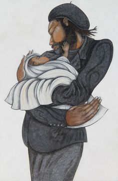 Charles Bibbs Reminisce - Giclee featuring the complete Charles Bibbs collection. View images from the Charles Bibbs Gallery. We are an Authorized Dealer for the African American Art of Charles Bibbs African American Artist, American Artists, Charles Bibbs, Charles Charles, Black Fathers, Black Love Art, Black Artwork, Black Families, Afro Art