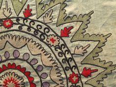 Antique suzani fragments, 1900s, natural dyes. suzanibazar.etsy.com