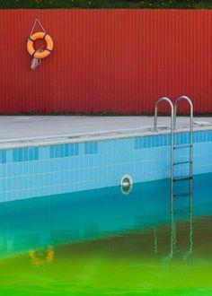 Yigithan Ozden, Untitled, Swimming Pool, Ankara, Telegram Takeover Fine Art Photography Print Sales