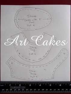 Pattern for doll shoe by Art Cakes, via Flickr