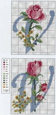 Ateliê Sonho Encantado: Monograma com rosas 3 parte!!