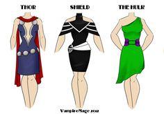 Avengers Fashion #1 by *VampireMage on deviantART