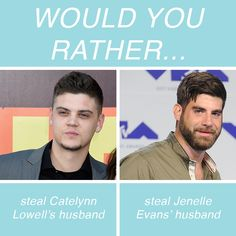 Would You Rather Reality TV Questions In Honor Of Valentine's Day Reality Tv Stars, Would You Rather, Fun Games, This Or That Questions, Cool Games