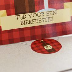 Stickers voor Enveloppen   Bierfeest #housewarming #tuinfeest #retirement #stickers #beerparty #Beaublue