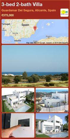 3-bed 2-bath Villa for Sale in Guardamar Del Segura, Alicante, Spain ►€375,000