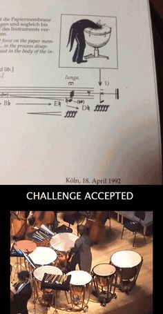 Percussionist humor... Challenge Accepted (this is freaking hilarious!)