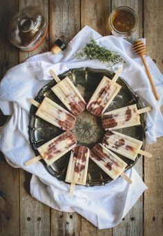 Herbed Fig and Goat Cheese Popsicles - I'm wondering if this would taste like a frozen cheesecake kinda thingy?