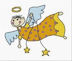 Flying angel (holidays, for children, Christmas, Xmas)