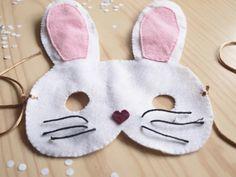 milowcostblog: diy: antifaz de conejo