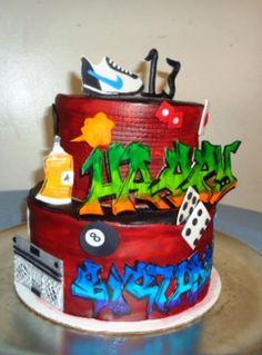 Graffiti Cake - CakeCentral.com