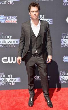 No one does smoldering stare like Ian Somerhalder!