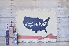 Do you have your 4th of July Decor up yet?  I'm still working on mine, but I'm so excited to have the addition of this Independence Day Liberty Board for my patriotic decor!  This was a super simple project, but it makes such a fun statement! I ordered this shaped board from my favorite wood …