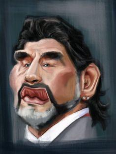 Maradona #caricature