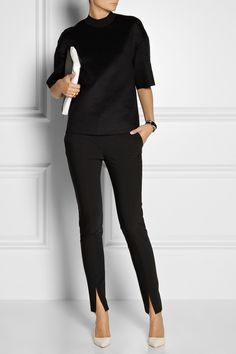 TIBI Slit-detailed woven pants